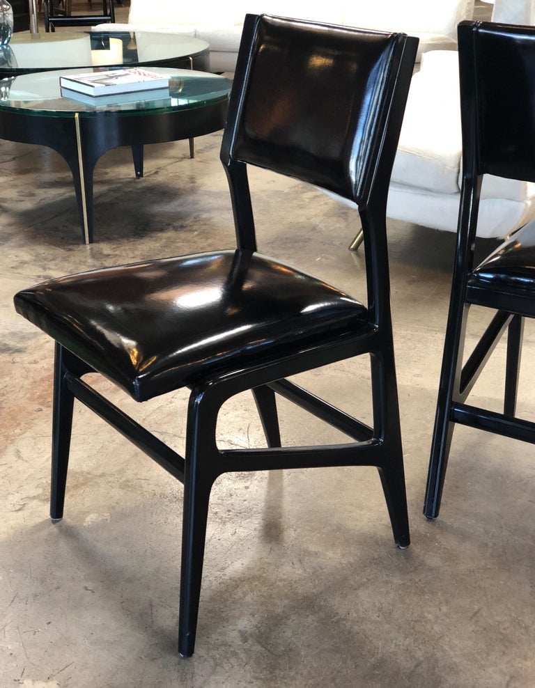 Iconic Gio Ponti Chairs, Italy 1958, Set of Six In Good Condition For Sale In Los Angeles, CA