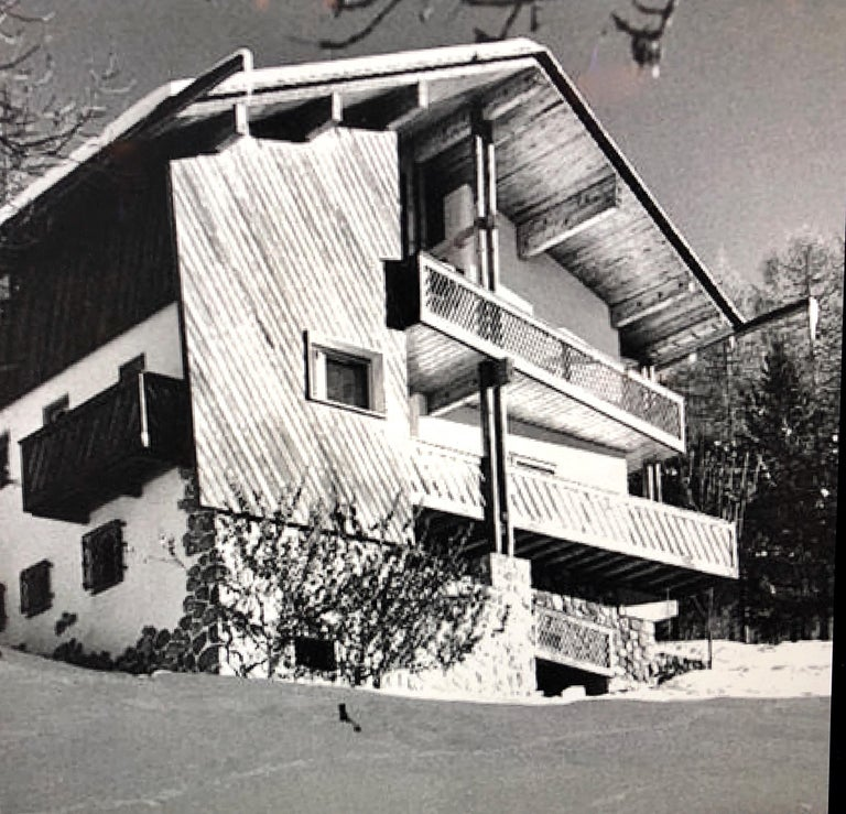 Mid-Century Modern Edoardo Gellner Armchairs, Italy 1947 from Villa Menardi, Cortina d'Ampezzo  For Sale