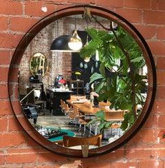 Ma39 Giant Iron Round Wall Mirror