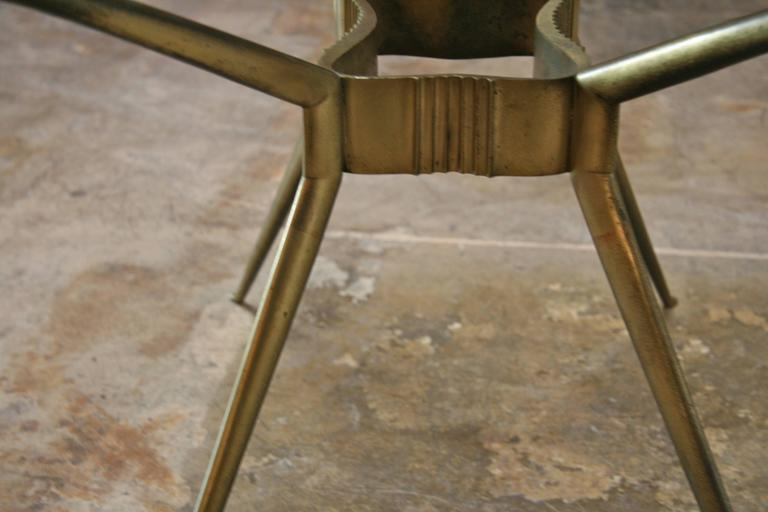 Italian 1950s Brass Cocktail Table For Sale 1