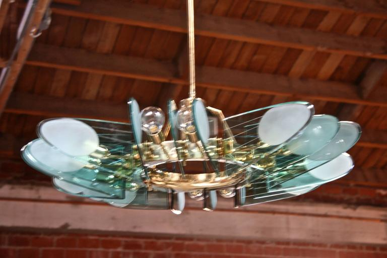 One of my all time favorite fixtures, an Italian chandelier attributed to Veca, Milano.
