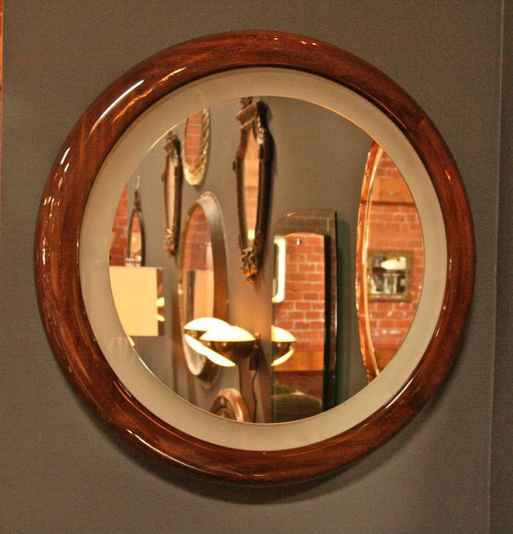 Illuminated mirror. It's a mirror; it's a light; it's both. Very chic!