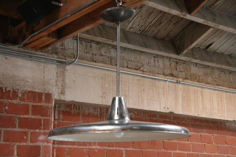 Three Italian Industrial 1960s Metal Pendant Lights 2