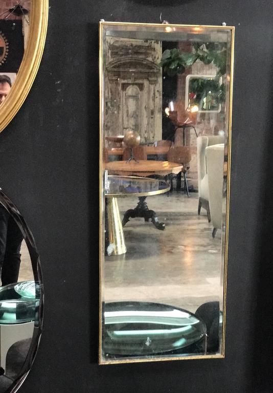 Brass Italian Mirror, 1960s 2