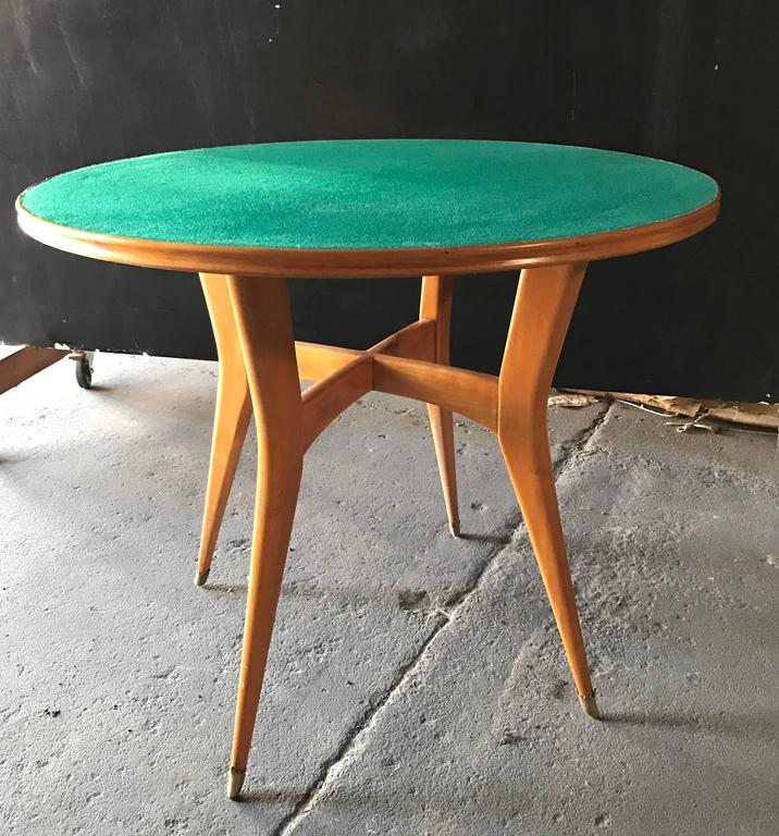 Italian Round Game Table Attributed to Ico Parisi 6