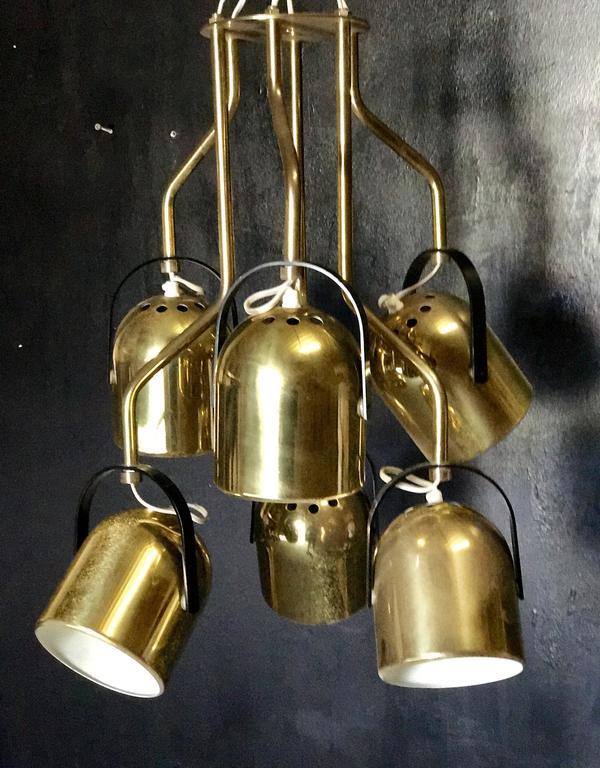 Italian 1970s Brass Pendant Light 2