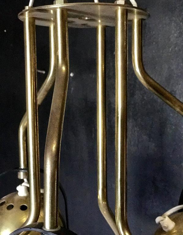 Italian 1970s Brass Pendant Light 4
