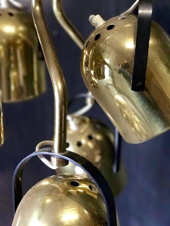 Italian 1970s Brass Pendant Light 5