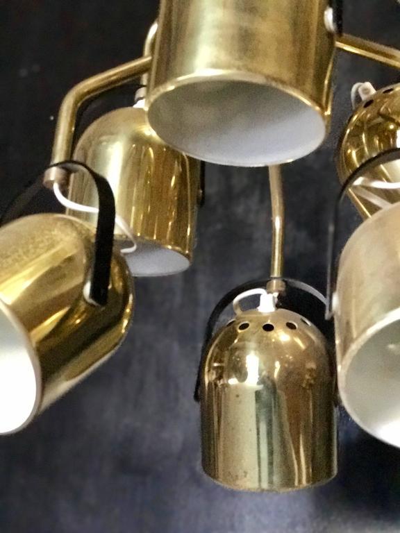 Italian 1970s Brass Pendant Light 7