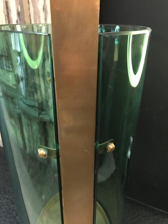 Brass Fontana Arte Umbrella Stand by Max Ingrand For Sale