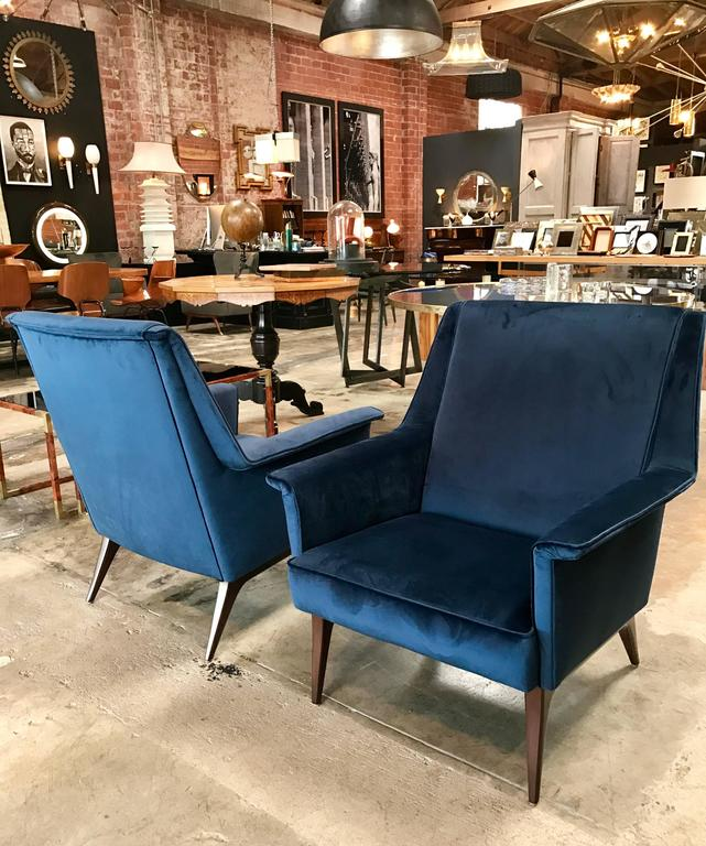 Italian 1960s Blue Armchairs by Anonima Castelli For Sale 1