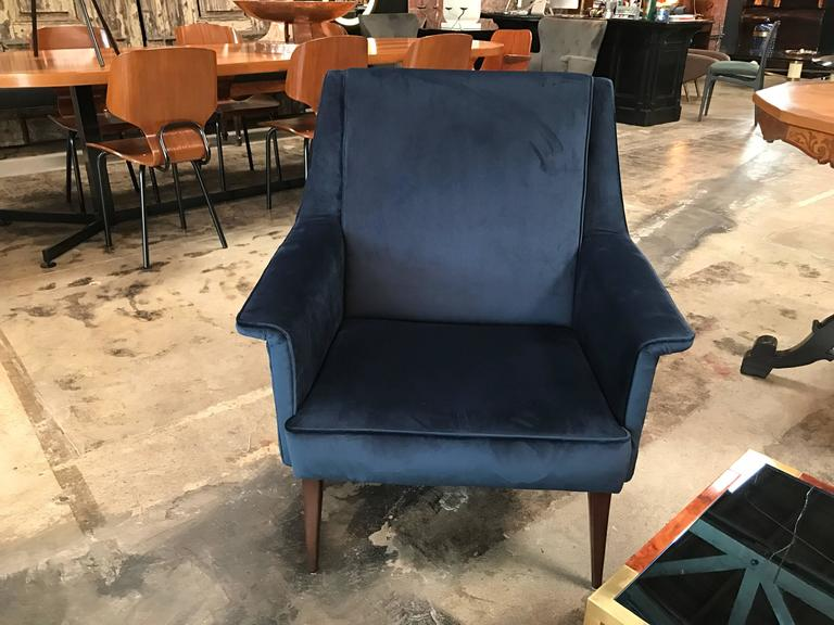Italian 1960s Blue Armchairs by Anonima Castelli For Sale 4