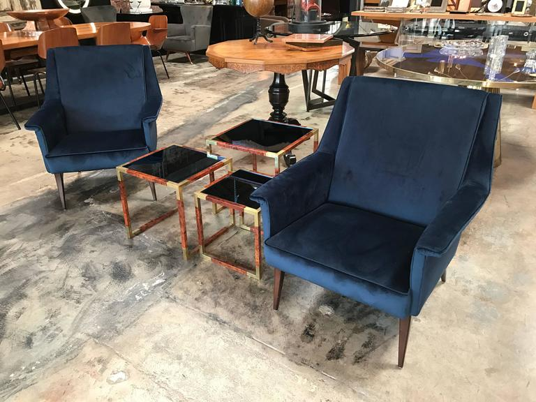 Italian 1960s Blue Armchairs by Anonima Castelli For Sale 5