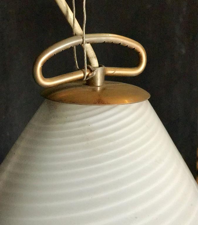 70's Murano Milk Glass Pendant Light 4
