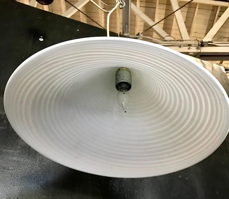 70's Murano Milk Glass Pendant Light 5