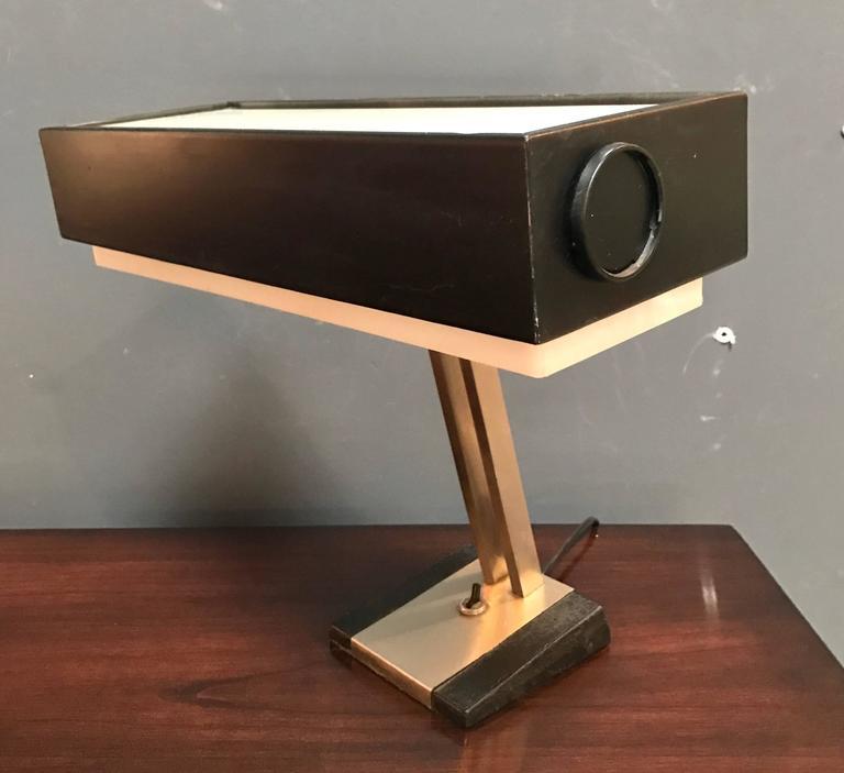 Italian 1950s Stilnovo desk lamp Steel office lamp.