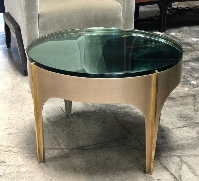 ma+39's custom ivory magnifying lens coffee table for sale at 1stdibs