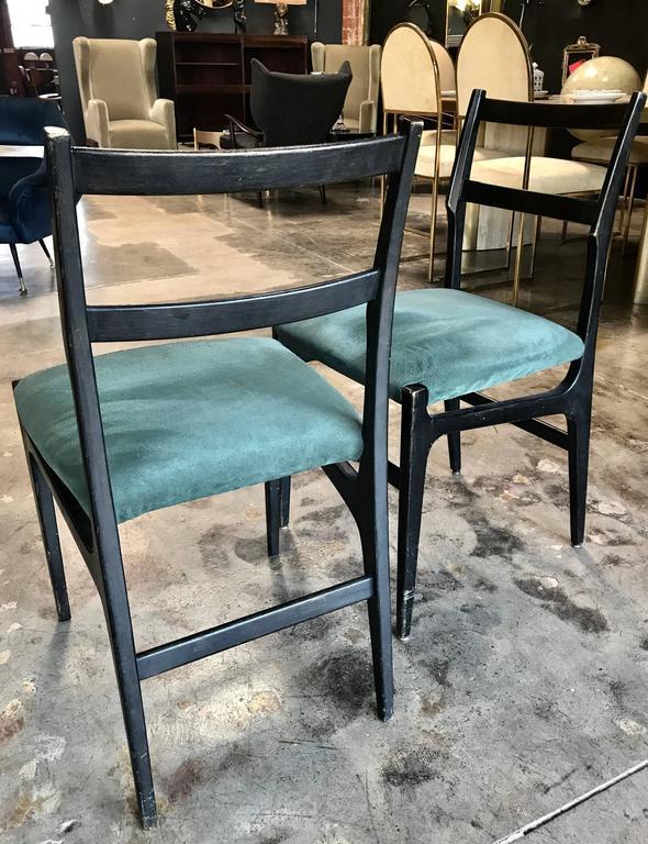 Mid-20th Century Pair of Gio Ponti Leggera Dining Chairs For Sale