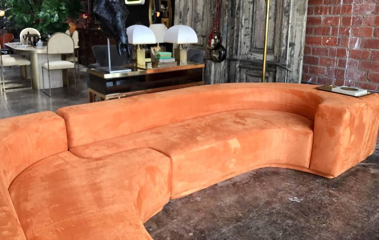 "Sectional Sofa, Two-Piece ""Lara"" by Roberto Pamio, Noti Massari and Renato Toso For Sale 1"