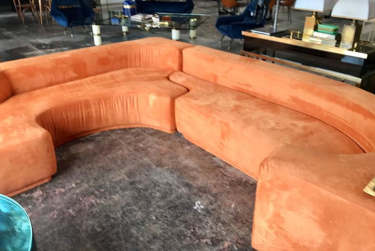 "Sectional Sofa, Two-Piece ""Lara"" by Roberto Pamio, Noti Massari and Renato Toso For Sale 2"