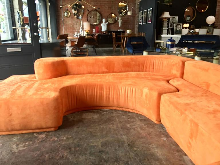 "Sectional Sofa, Two-Piece ""Lara"" by Roberto Pamio, Noti Massari and Renato Toso For Sale 3"