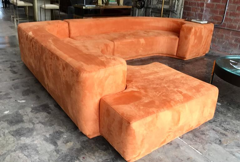"Sectional Sofa, Two-Piece ""Lara"" by Roberto Pamio, Noti Massari and Renato Toso For Sale 6"