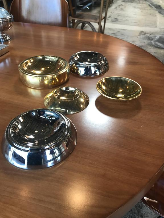 Tommaso Barbi Trays Bowls, Italy, circa 1970s In Excellent Condition For Sale In Los Angeles, CA