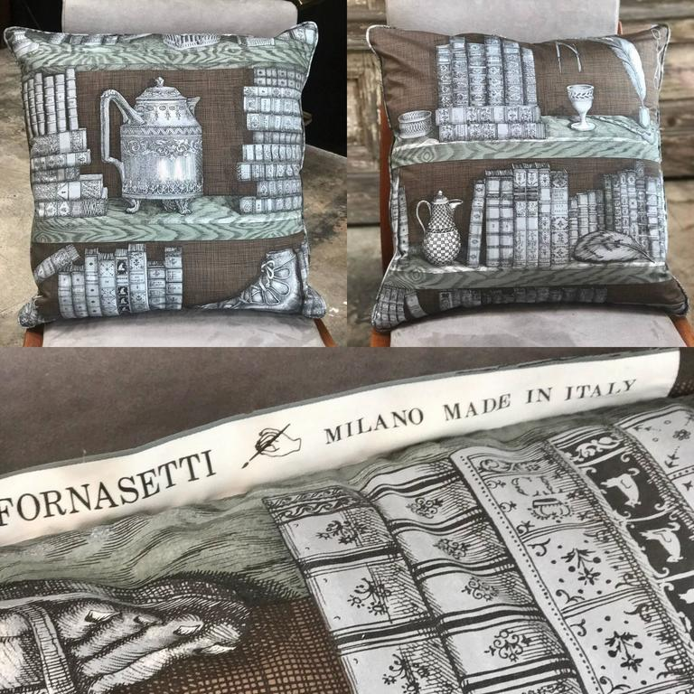 Pair of Piero Fornasetti Pillows, 1950s 7
