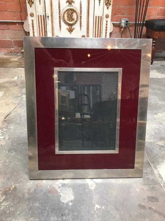Giant Italian Vintage Modern Picture Frame, Italy, 1970s In Excellent Condition For Sale In Los Angeles, CA