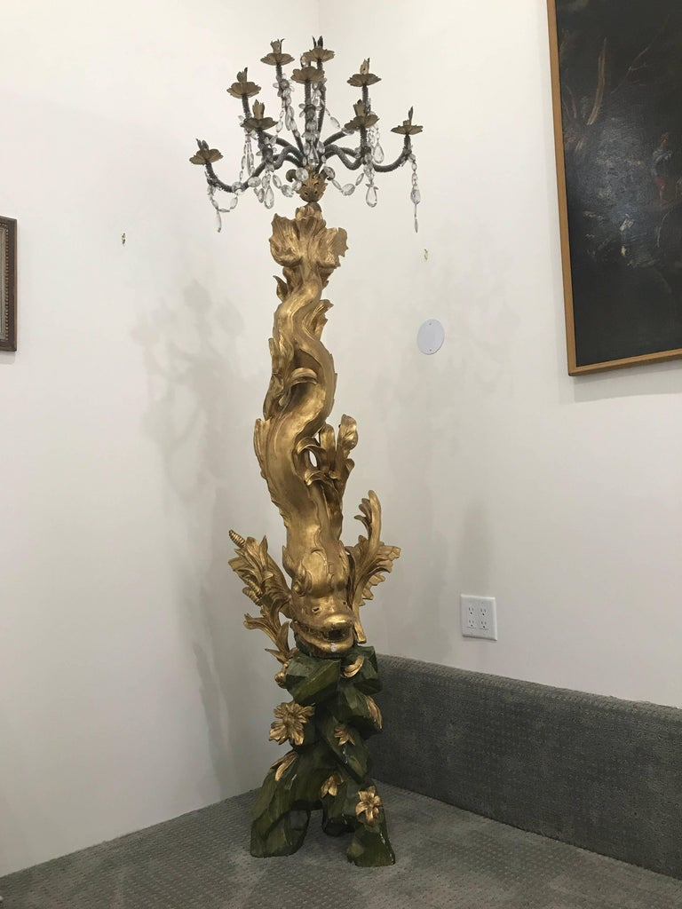 "Pair of magnificent 17th century candelabra by Domenico Parodi (1672-1742) with ""Certificate of Authenticity.""