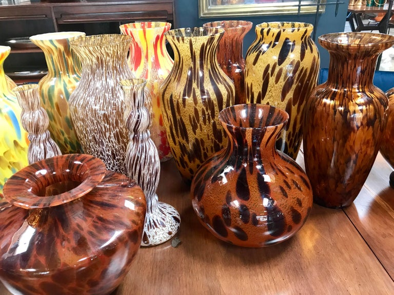 Florentine Handblown Vase in Various Shapes, Sizes and Colors from the 1980s 3