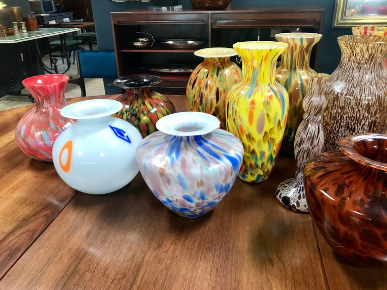 Florentine Handblown Vase in Various Shapes, Sizes and Colors from the 1980s 4