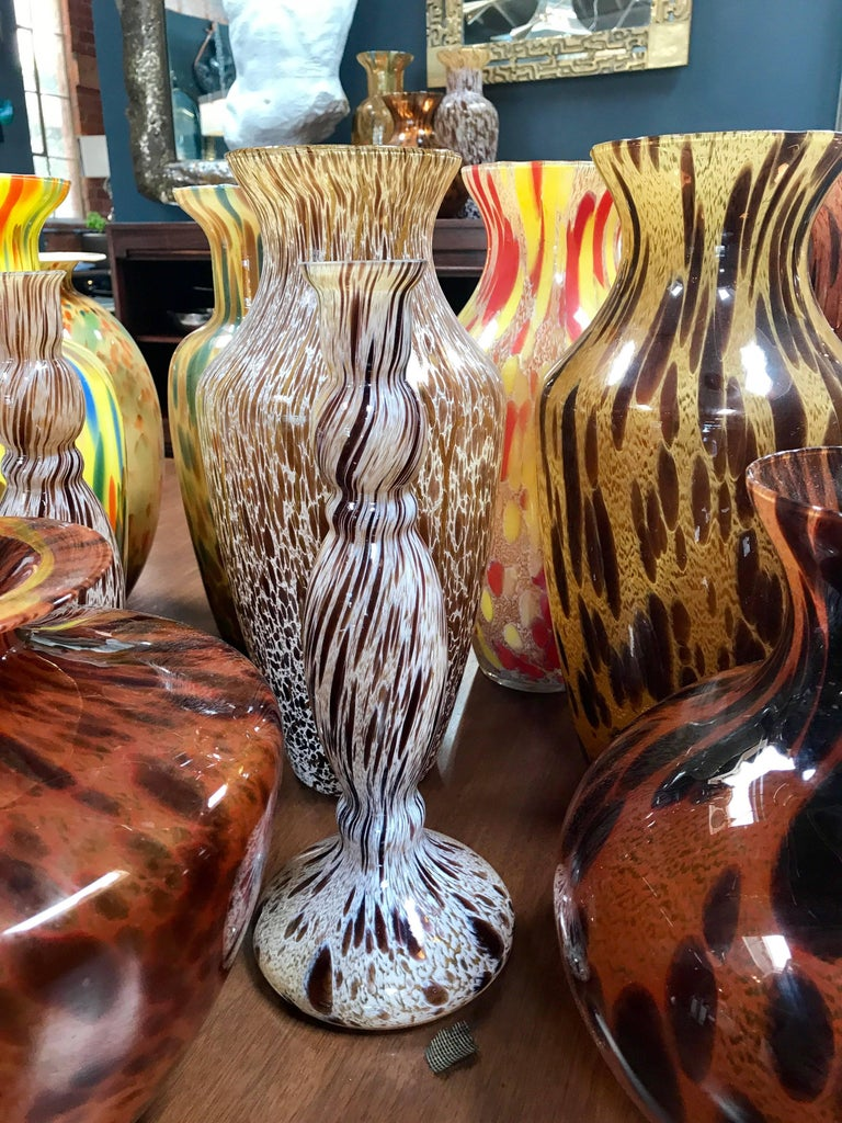 Florentine Handblown Vase in Various Shapes, Sizes and Colors from the 1980s 5