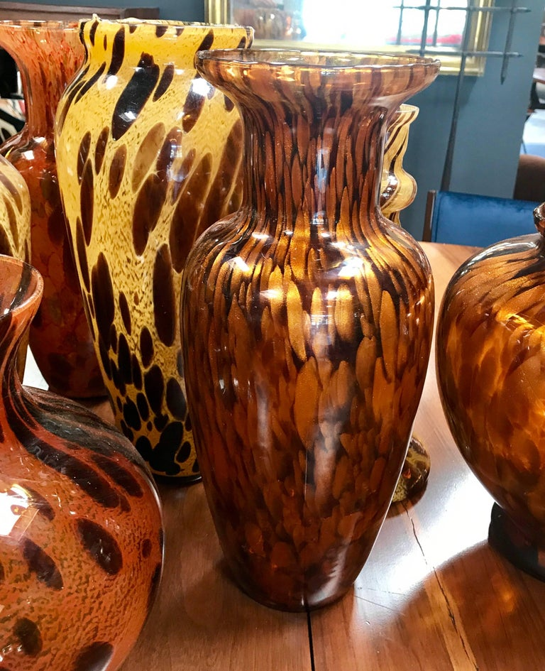 Florentine Handblown Vase in Various Shapes, Sizes and Colors from the 1980s 6