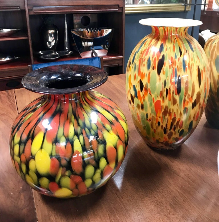 Florentine Handblown Vase in Various Shapes, Sizes and Colors from the 1980s 8