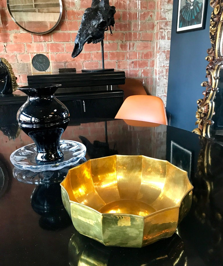 1960s Italian Stunning Brass Bowl For Sale 1