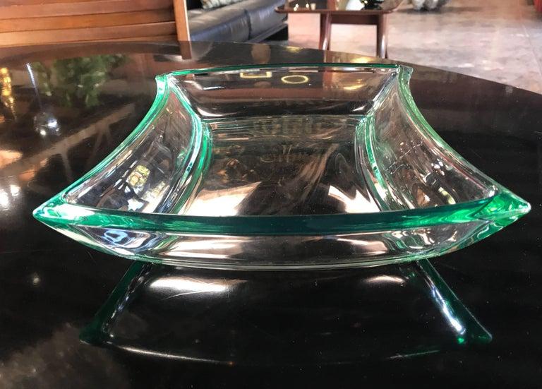 Mid-20th Century Fontana Arte Aquamarine Glass Bowl For Sale