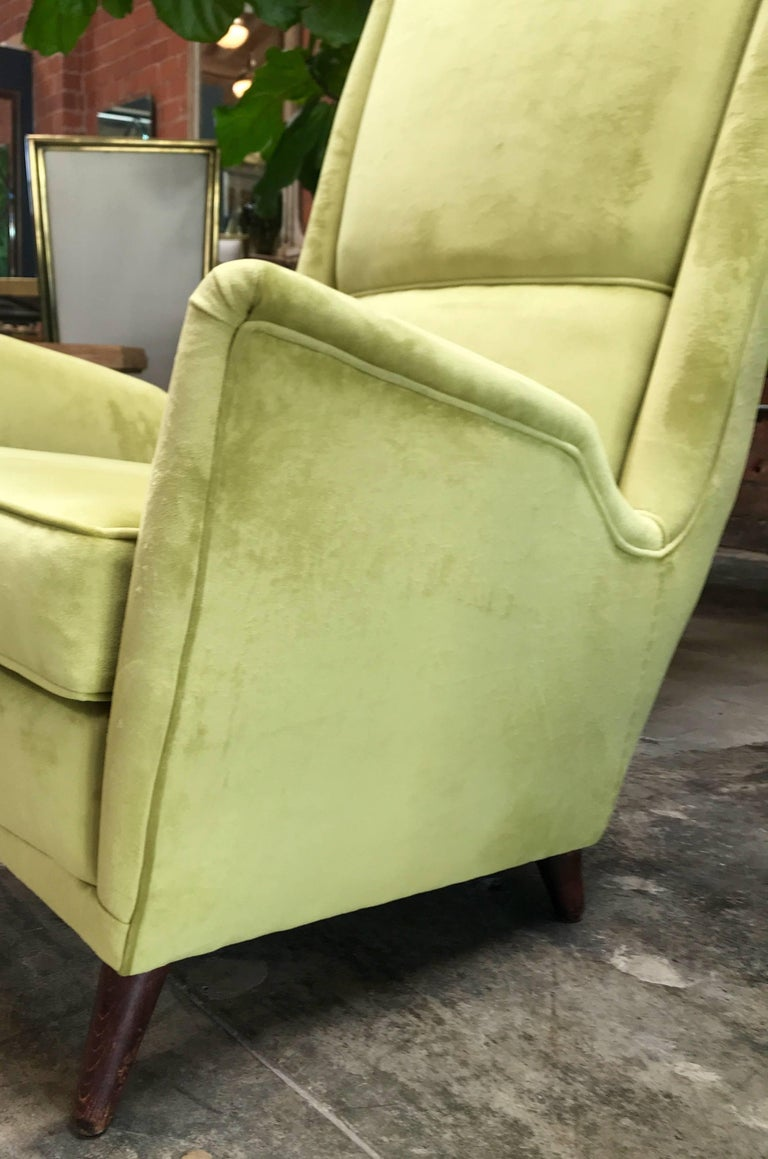 Italian Absolutely Fabulous Armchairs by ISA For Sale 1