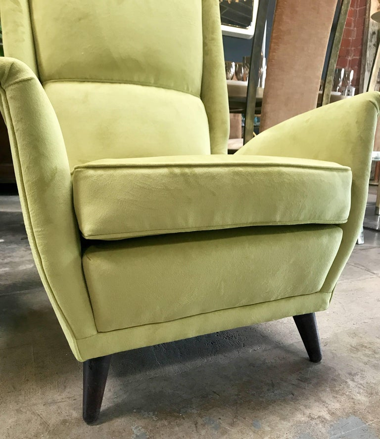 Italian Absolutely Fabulous Armchairs by ISA For Sale 2