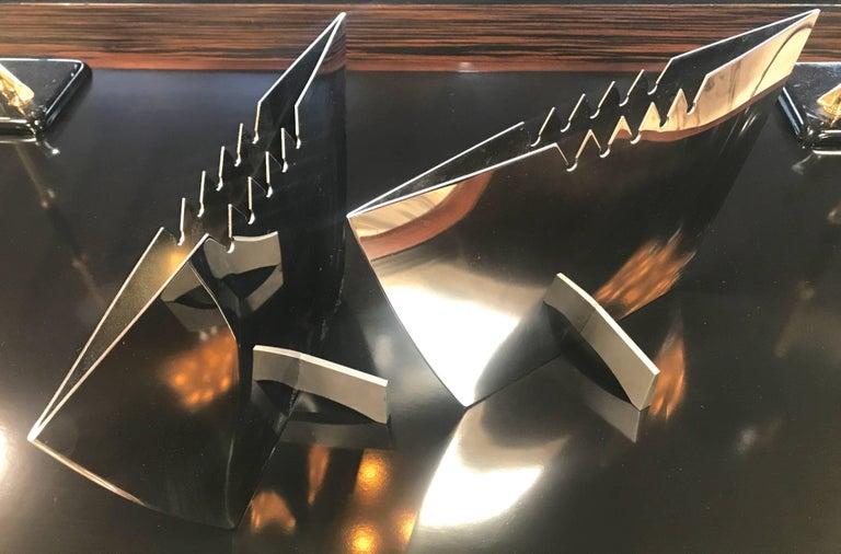 Steel vases by Leo Aerts