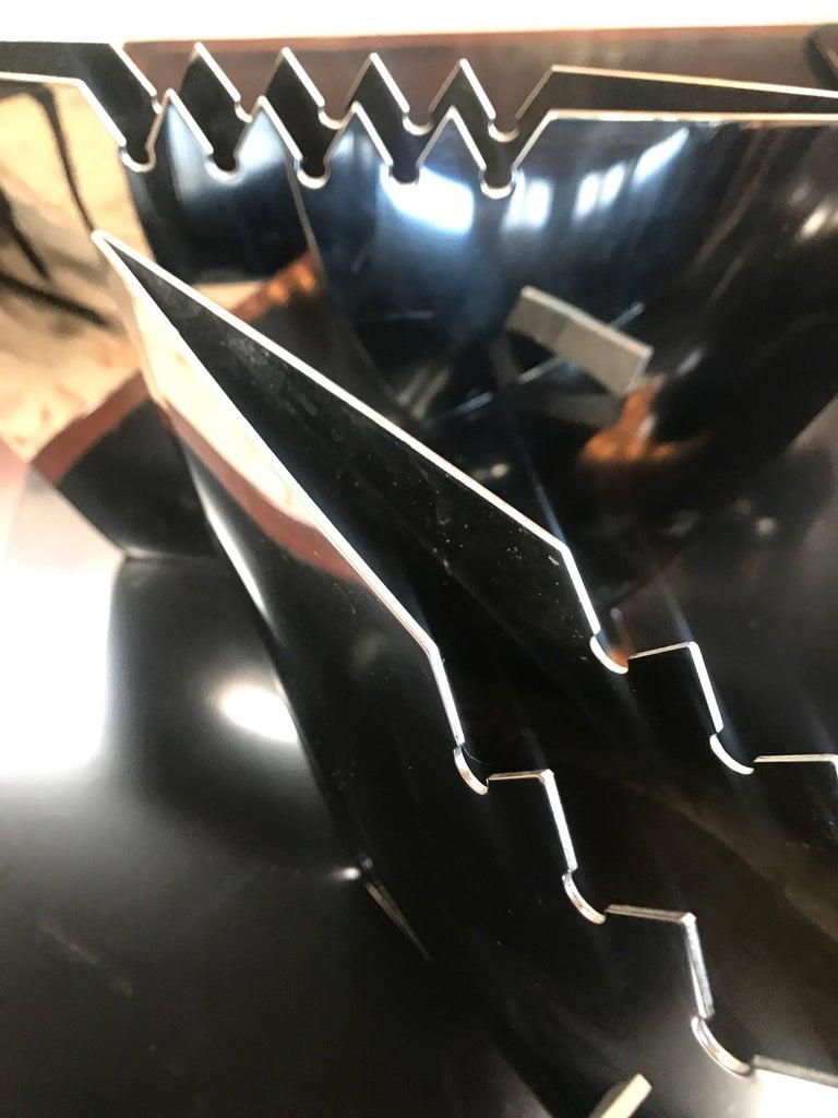 Cut Steel Steel Vase by Leo Aerts