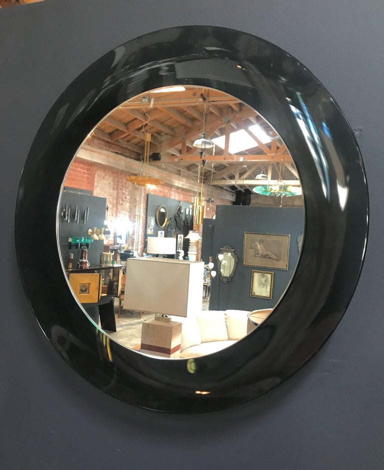 Italian Gray Mirror, 1960s In Excellent Condition For Sale In Los Angeles, CA