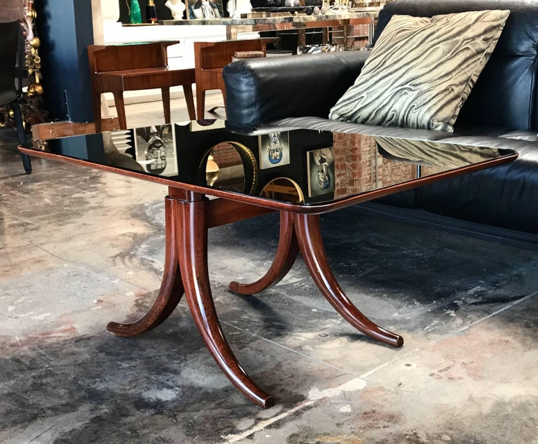 Modern Mirror Coffee Table by Pietro Chiesa for Fontana Arte, 1950 For Sale