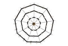 Rare Stilnovo 36 Globe Chandelier