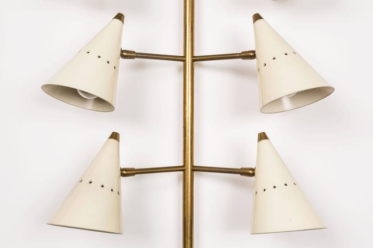 Metal Wall Lights by Stilnovo For Sale