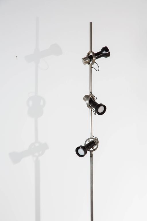 Italian Rare Model 1076 Trittico Floor Lamp by Angelo Lelli for Arredoluce  For Sale