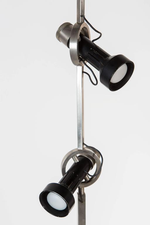 Enameled Rare Model 1076 Trittico Floor Lamp by Angelo Lelli for Arredoluce  For Sale