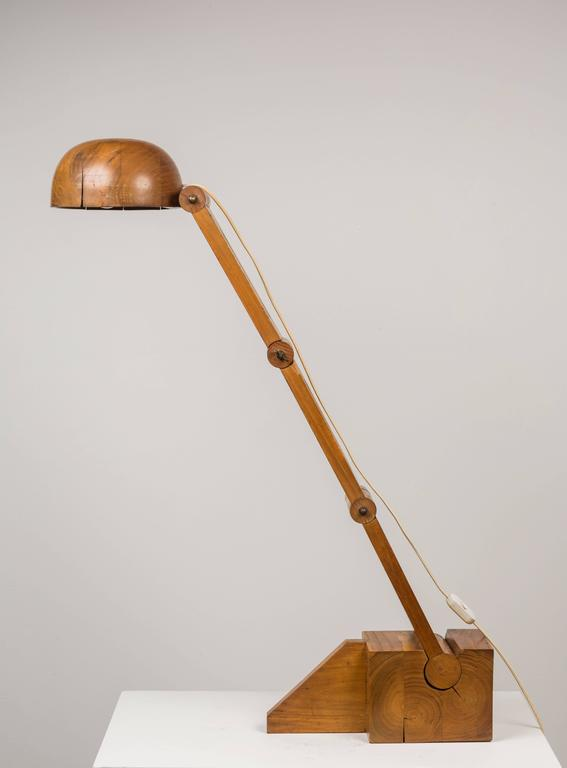 Solid Wood Table Lamp By Paolo Pallucco For Pallucco Roma For Sale