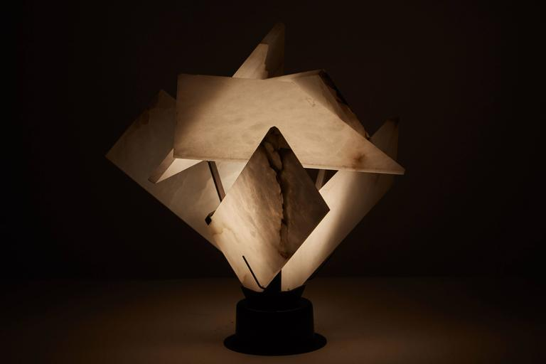 Flower Table Lamp by Pierre Chareau 2