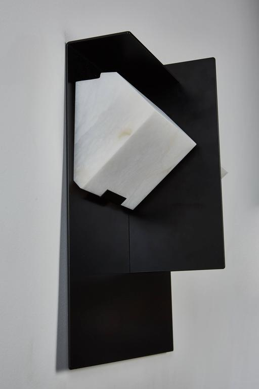 """Mask"" Wall Lamp by Pierre Chareau Model SMA 119 A In Excellent Condition For Sale In Los Angeles, CA"